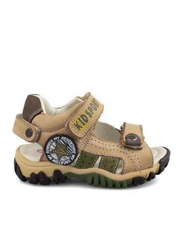 Cici Bebe Ayakkabı Deri Erkek Çocuk Sandalet Bej